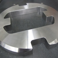 """Conventional Waterjet -S tainless steel 1"""" thick"""